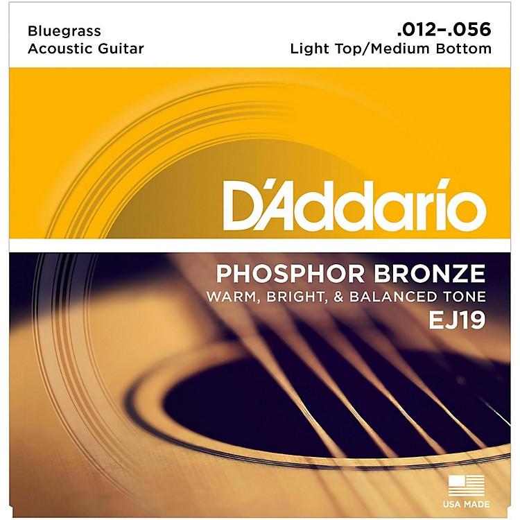 D'AddarioEJ19 Phosphor Bronze Bluegrass Medium Light Acoustic Guitar Strings