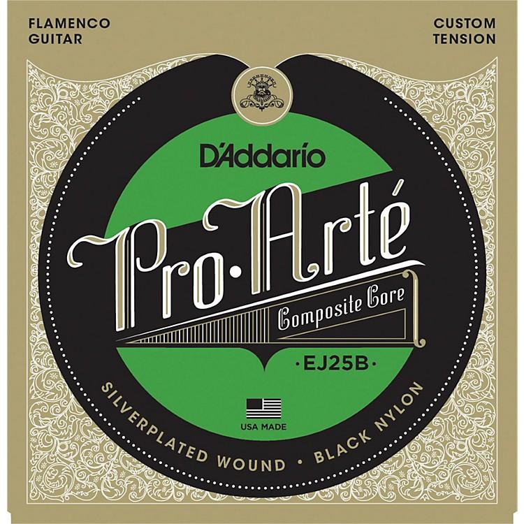 D'AddarioEJ25B Pro-Arte Composites Flamenco Guitar Strings - Black Nylon