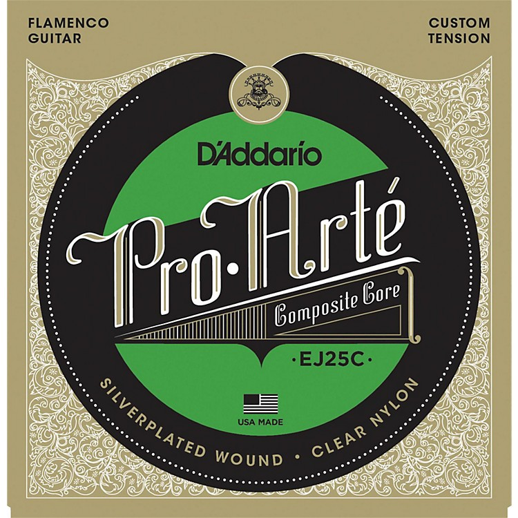 D'AddarioEJ25C Pro-Arte Composites Flamenco Guitar Strings - Clear Nylon