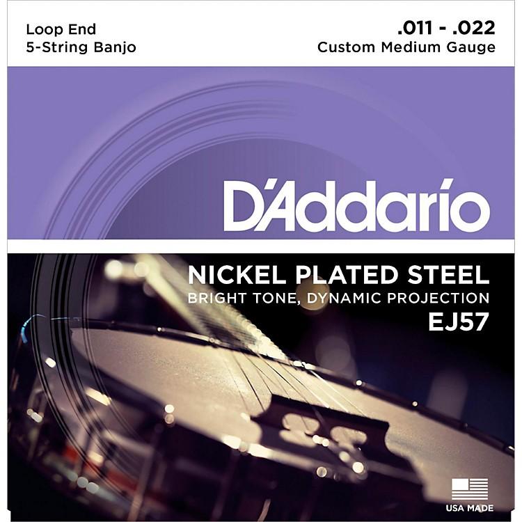 D'AddarioEJ57 Nickel Custom Medium 5-String Banjo Strings (11-22)