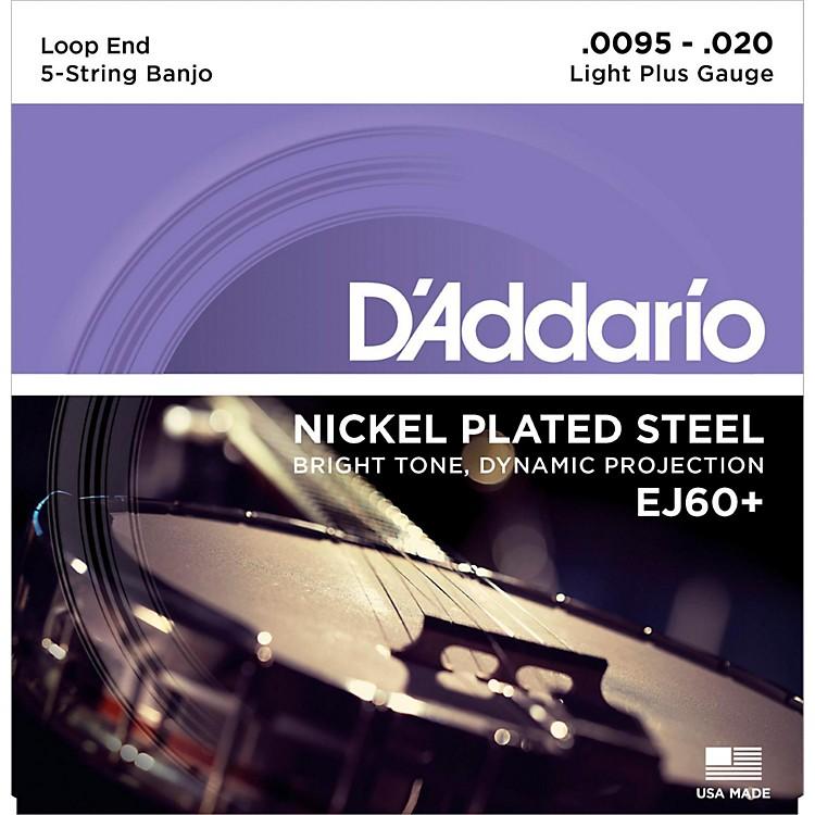 D'AddarioEJ60+ Nickel Light Plus 5-String Banjo Strings (9.5-20)