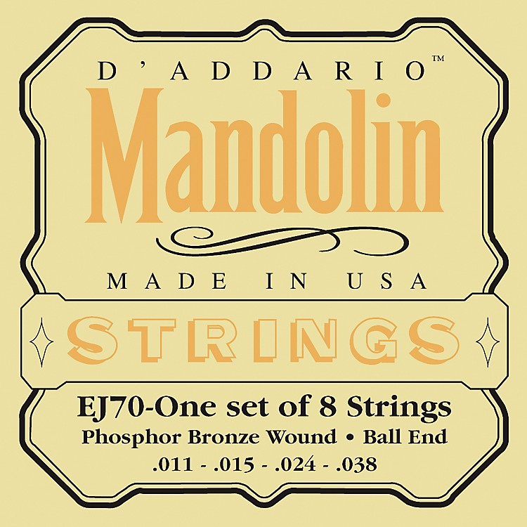 D'AddarioEJ70 Phosphor Bronze Ball End Mandolin Strings