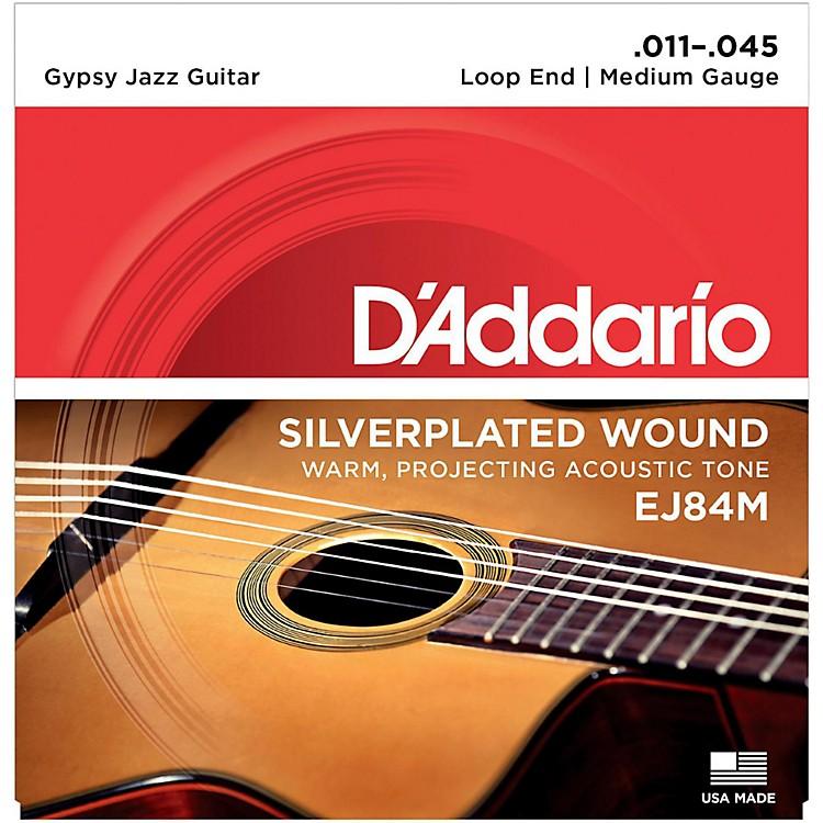 D'AddarioEJ84M Gypsy Jazz Silver Wound Loop End Medium Guitar Strings