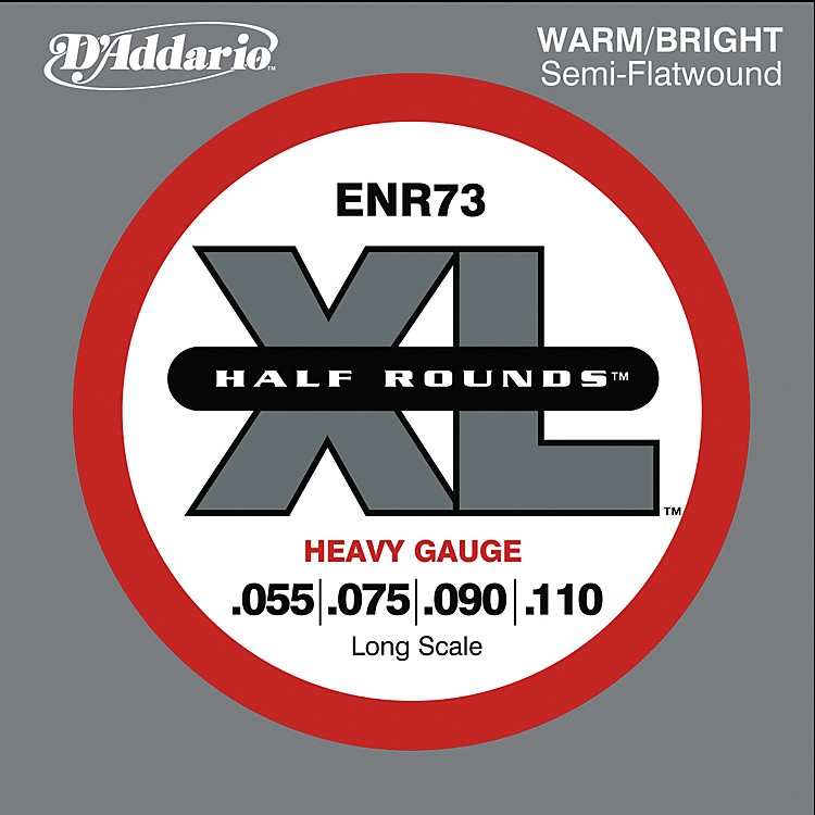 D'Addario ENR73 Half Rounds Heavy Bass Strings