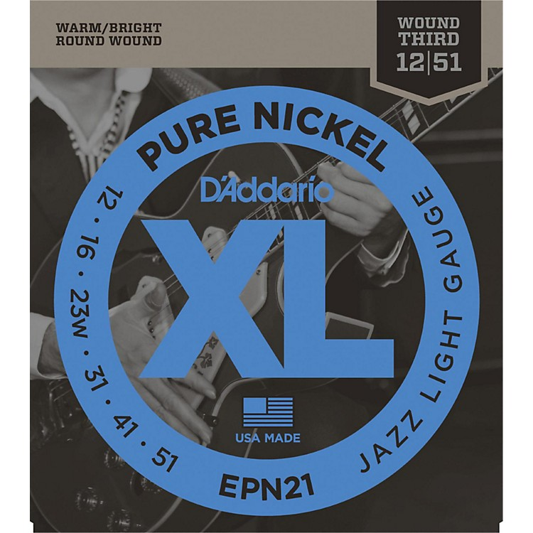 D'Addario EPN21 Pure Nickel Jazz Lite Electric Guitar Strings