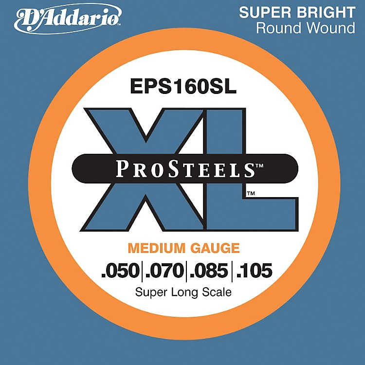 D'Addario EPS160SL XL ProSteels Super Long Scale Medium Gauge Bass Strings