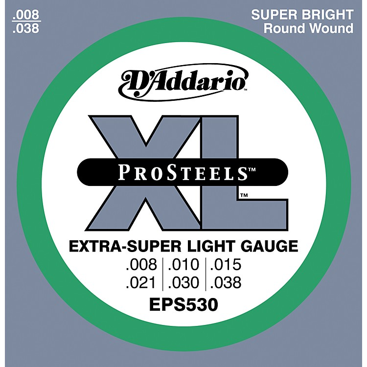 D'Addario EPS530 ProSteels Extra Super Light Electric Guitar Strings