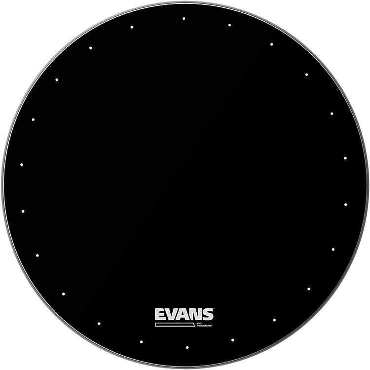 EvansEQ1 Resonant Black Drumhead20 in.