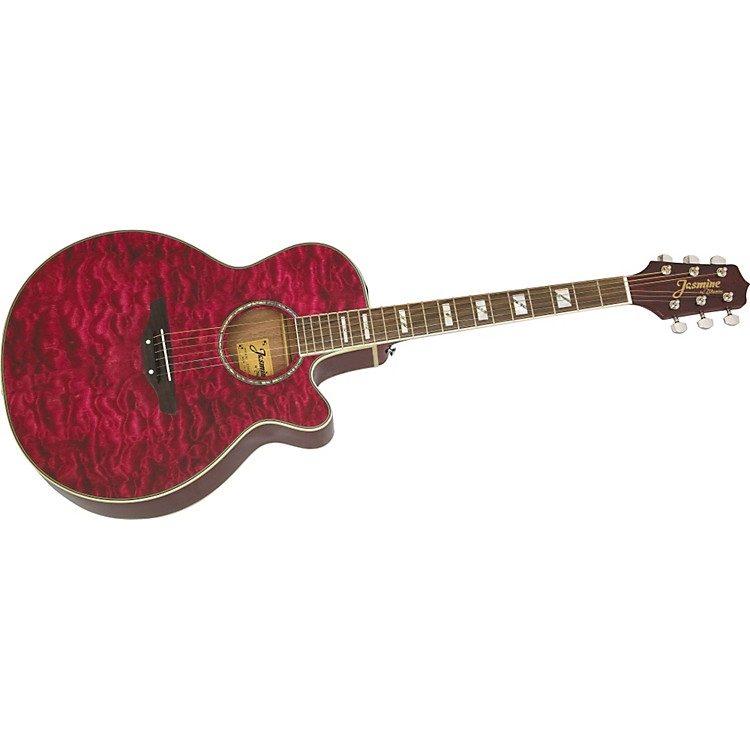 JasmineES450C Quilt Top Acoustic-Electric Guitar