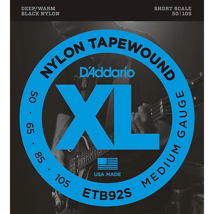 D'AddarioETB92 Black Nylon Tapewound Short Scale Bass Strings
