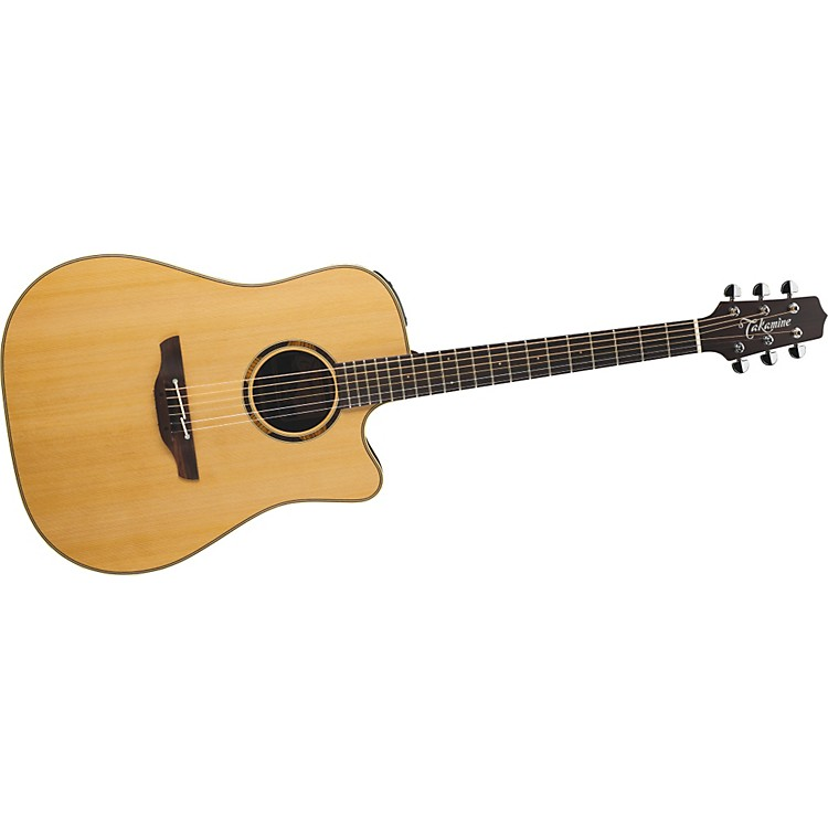 Takamine ETN10C Dreadnought Acoustic-Electric Guitar With Case Satin Natural