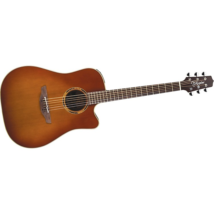 TakamineETN10C Dreadnought Acoustic-Electric Guitar With CaseSatin Tobacco Sunburst