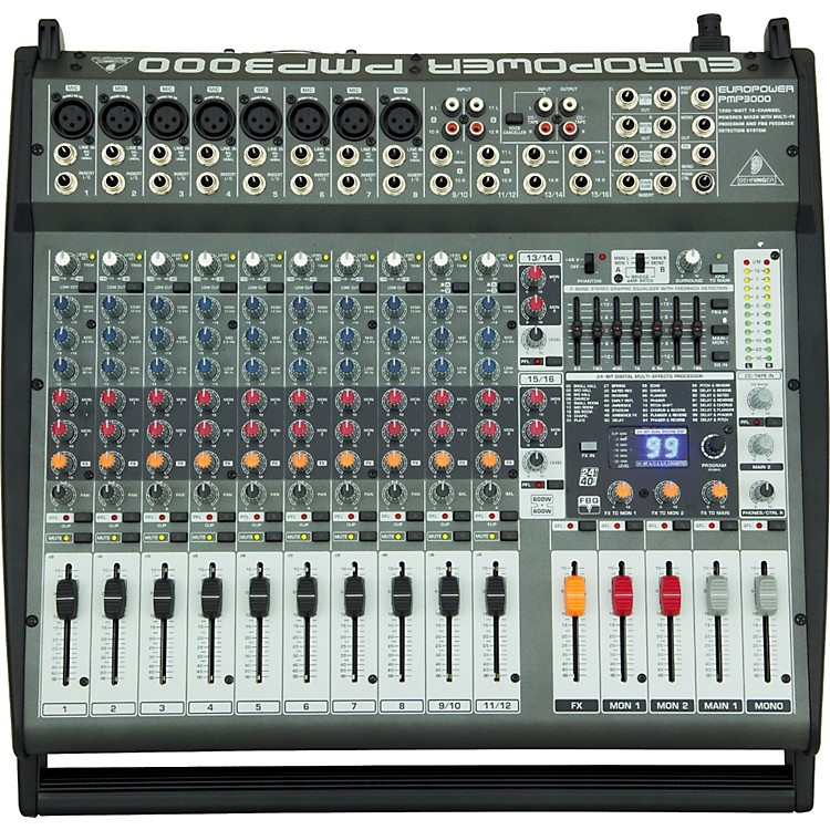 Behringer EUROPOWER PMP3000 12-Channel Powered Mixer Pmp3000