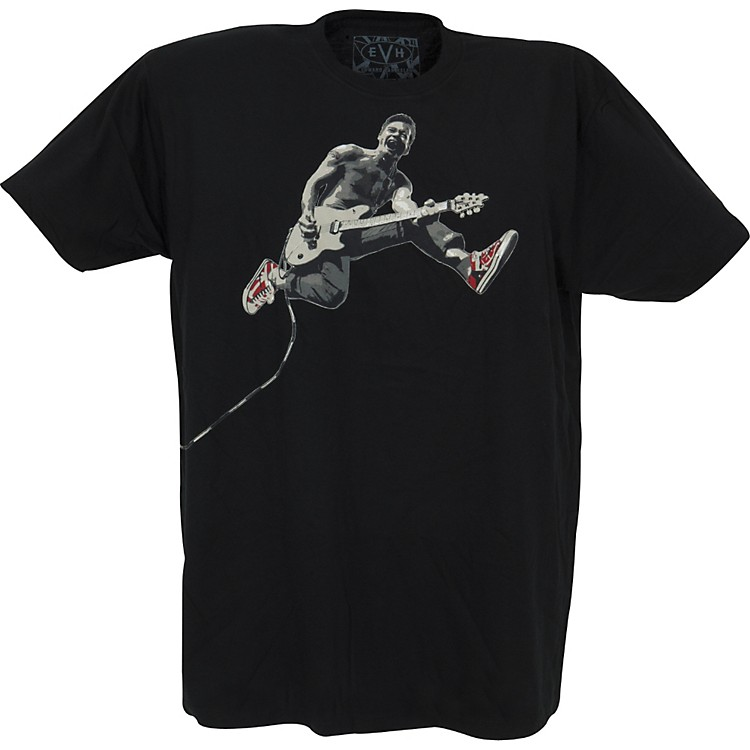 FEA Merchandising EVH Eddie Jumping Slim Fit T-Shirt Black Medium
