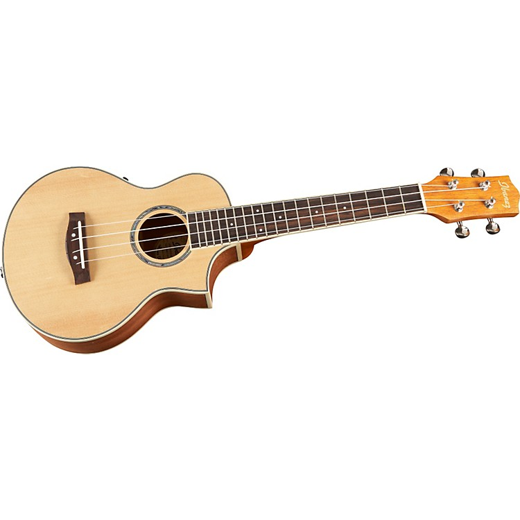 Ibanez EW Concert Acoustic-Electric Ukulele Spruce Natural Low Gloss