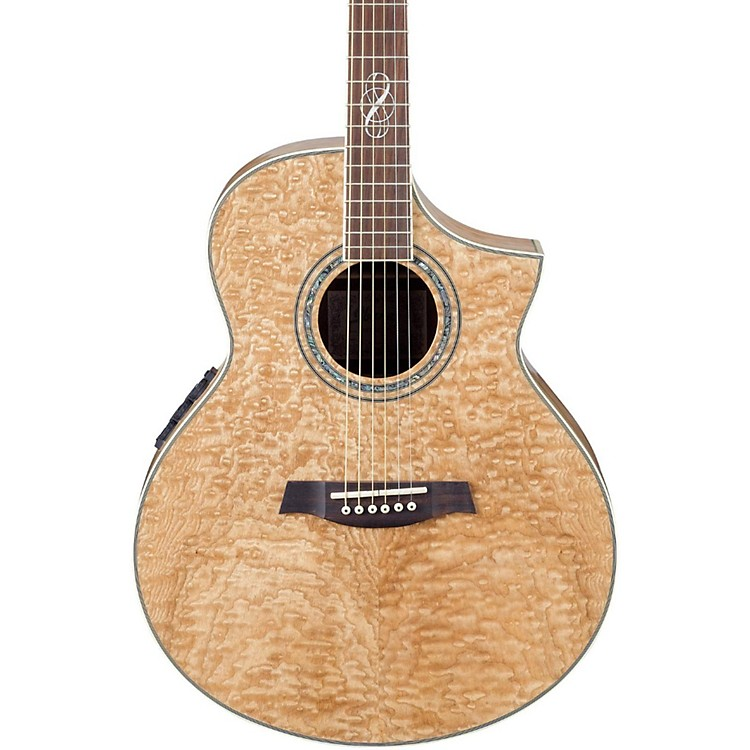 Ibanez EW20ASE Exotic Wood Figured Ash Cutaway Acoustic-Electric Guitar Natural