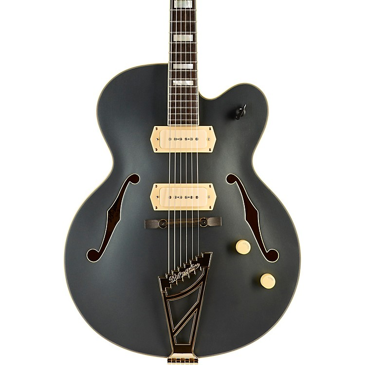 D'AngelicoEX-59 Deluxe Edition Hollowbody Electric GuitarMidnight Matte