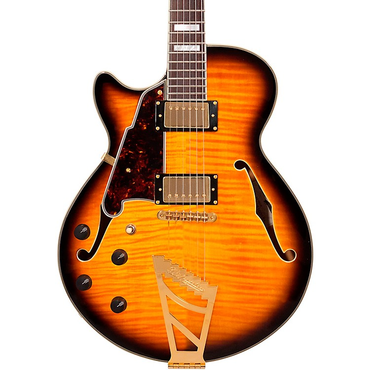D'Angelico EX-SS Left-Handed Semi-Hollowbody Electric Guitar Vintage Sunburst
