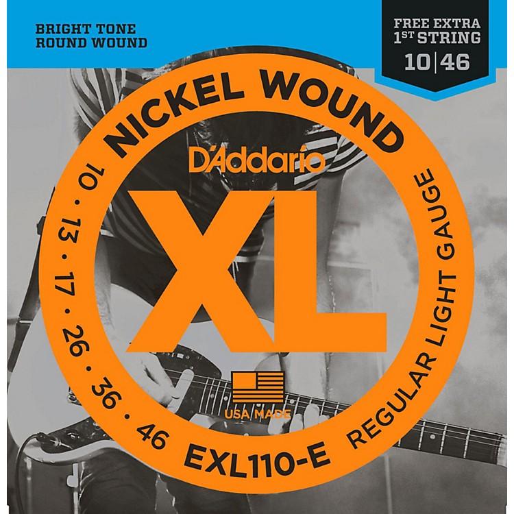 D'AddarioEXL110-E Bonus Pack: Light Electric Guitar Strings with Bonus High E String (10-46)