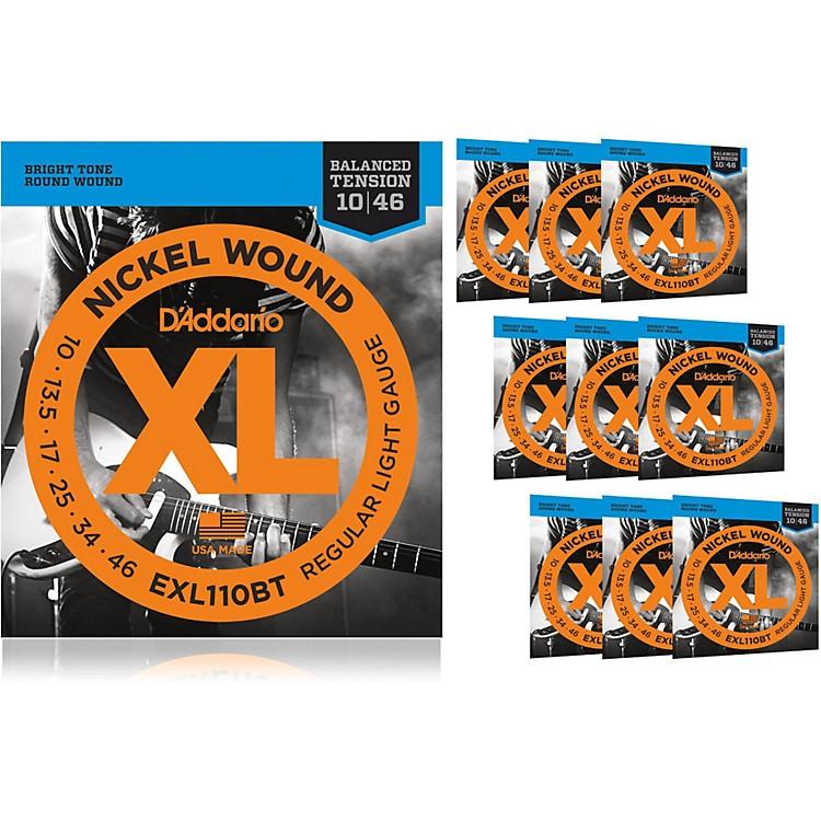 D'AddarioEXL110BT Balanced Tension Lite Electric Guitar Strings 10 Pack