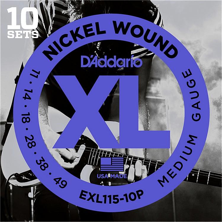 D'AddarioEXL115 Nickel Blues/Jazz Electric Guitar Strings 10-Pack