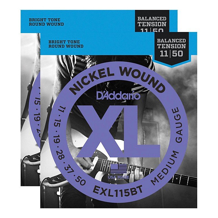 D'Addario EXL115BT Balanced Tension Medium Electric Guitar Strings (2-Pack)