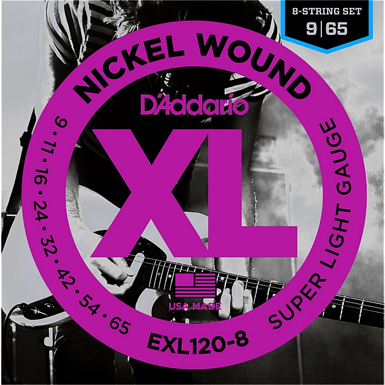 D'Addario EXL120-8 8-String Super Light Electric Guitar Strings