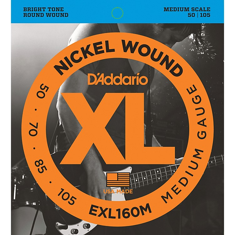 D'Addario EXL160M XL Medium Bass String Set