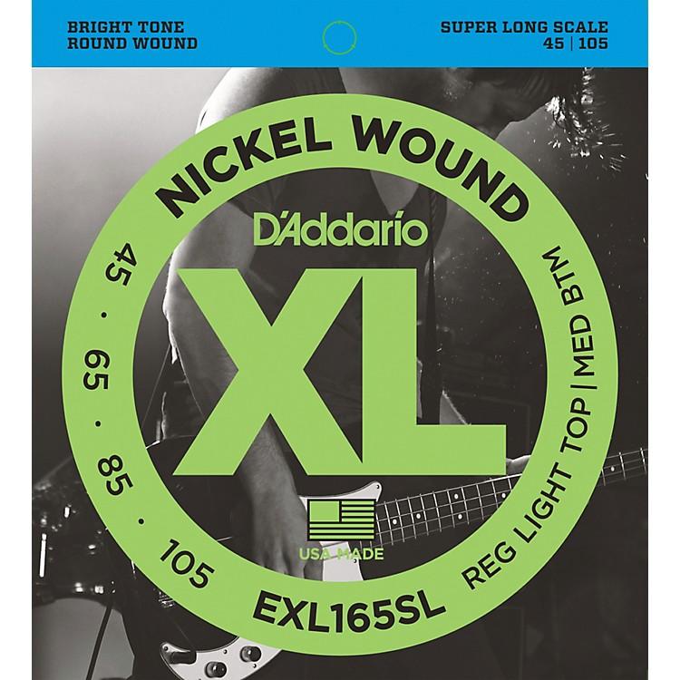 D'AddarioEXL165SL Regular Light Top/Medium Bottom Nickel Wound Super Long Scale Bass Strings
