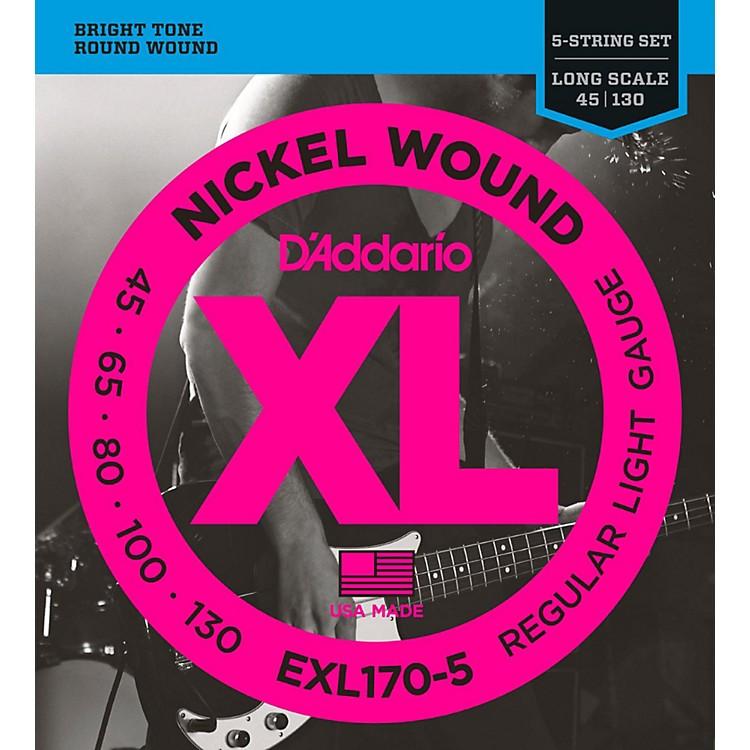 D'AddarioEXL170-5 XL Nickel Round Wound 5-String Long Bass Strings