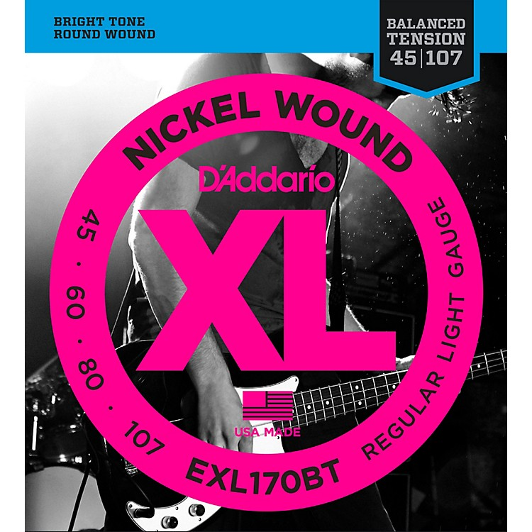 D'AddarioEXL170BT Balanced Tension 45-107 Long Scale Electric Bass String Set