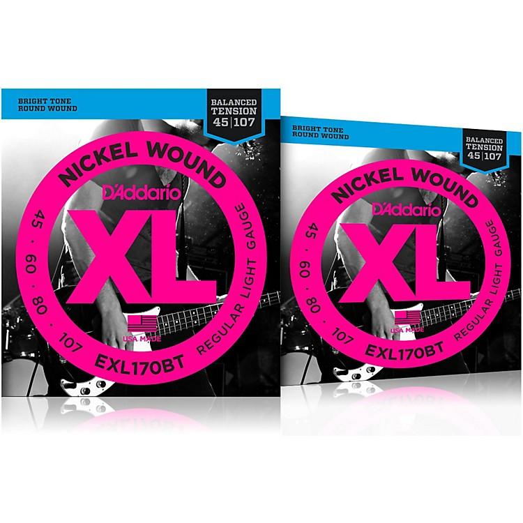 D'AddarioEXL170BT Balanced Tension Long Scale Electric Bass String Set (45-107) 2 Pack