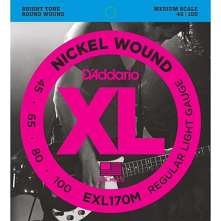 D'Addario EXL170M XL Soft/Medium Bass String Set