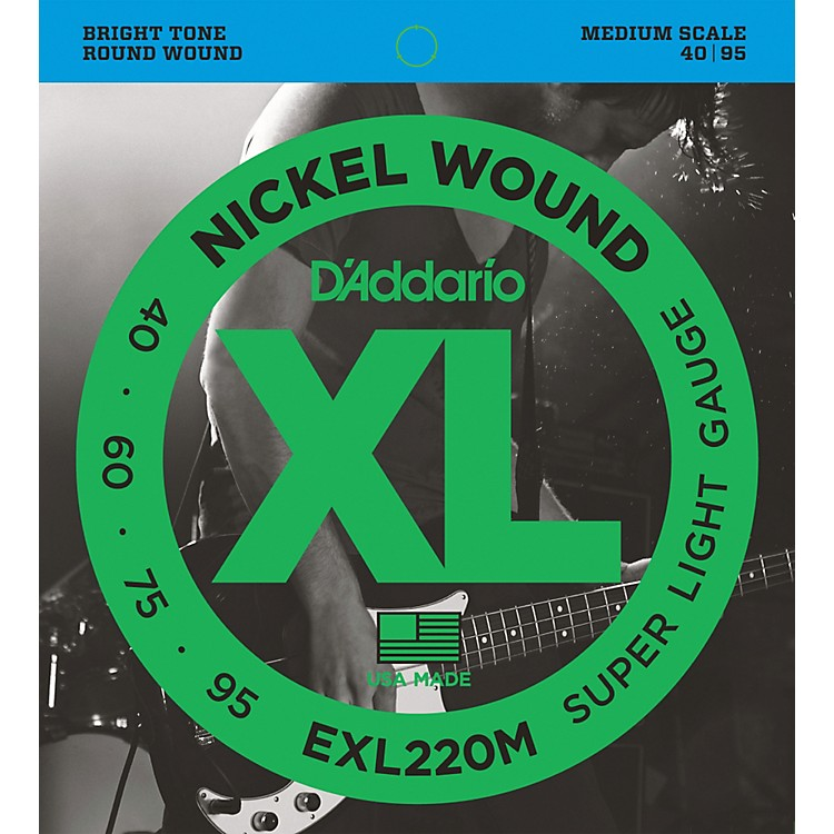 D'Addario EXL220M XL Bass Super Soft/Medium Scale Bass Strings