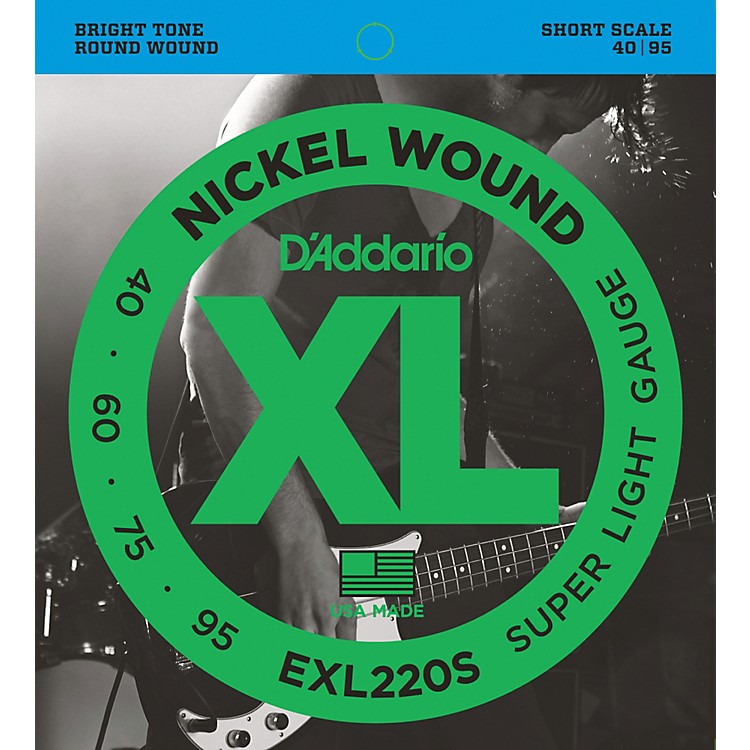 D'AddarioEXL220S XL Nickel Super Light Short Scale Electric Bass Strings