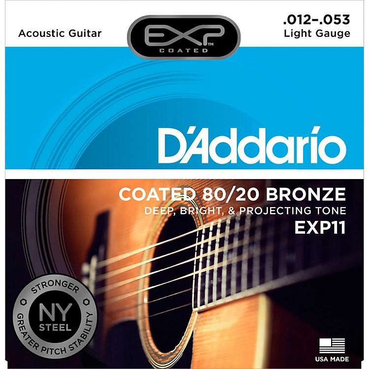 D'AddarioEXP11 Coated 80/20 Bronze Light Acoustic Guitar Strings