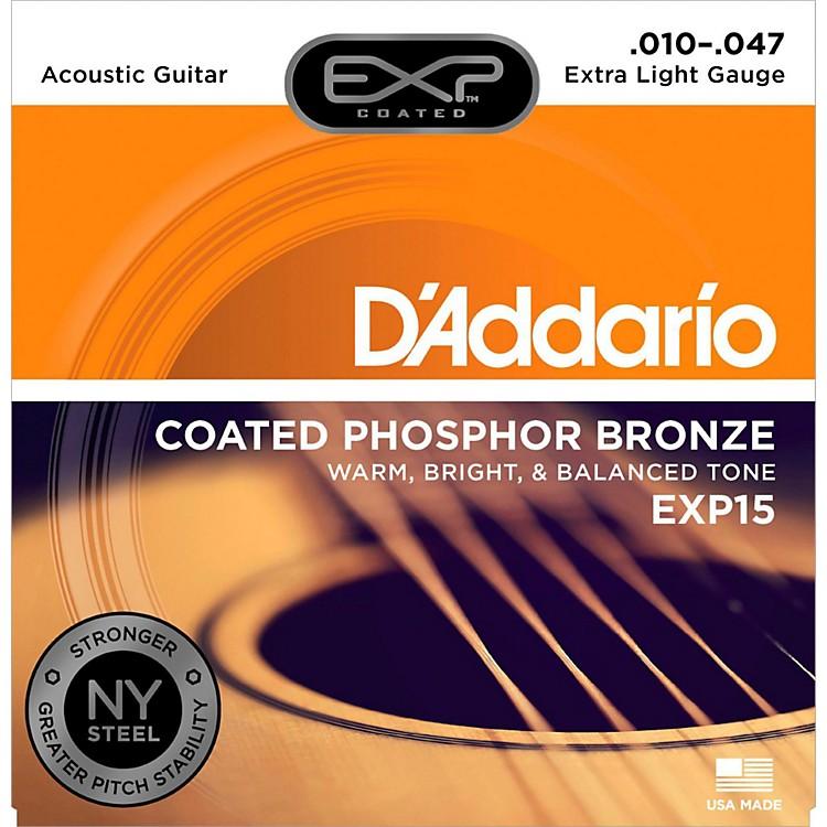 D'AddarioEXP15 Coated Phosphor Bronze Extra Light Acoustic Guitar Strings