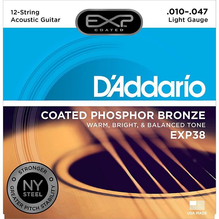 D'AddarioEXP38 12-String Coated Phosphor Bronze Light Acoustic Guitar Strings