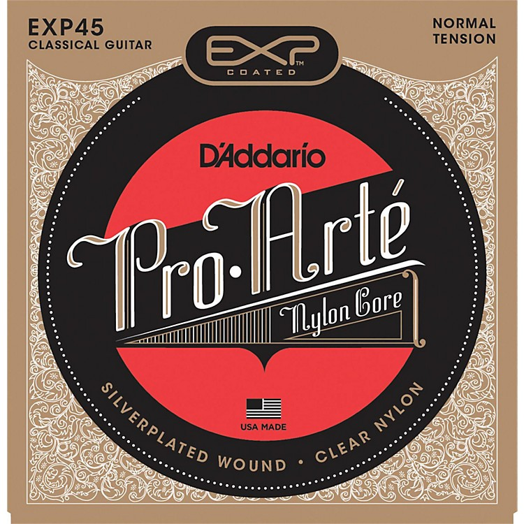 D'Addario EXP45 Coated Nylon Guitar Strings Normal Tension