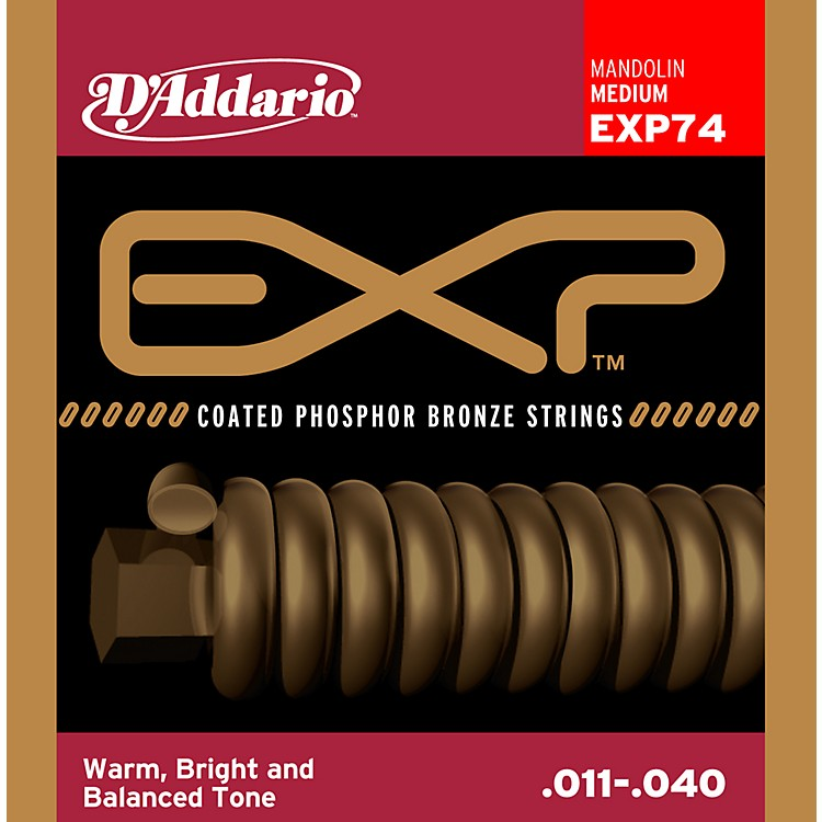 D'Addario EXP74 Coated Phosphor Bronze Medium Mandolin Strings
