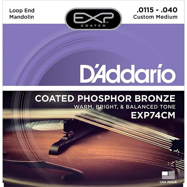 D'AddarioEXP74CM Coated Phosphor Bronze Custom Medium Mandolin Strings (11.5-40)