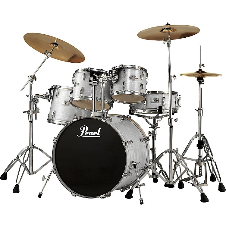 Pearl EXR 5-Piece Fusion Drum Set Strata White | Music123