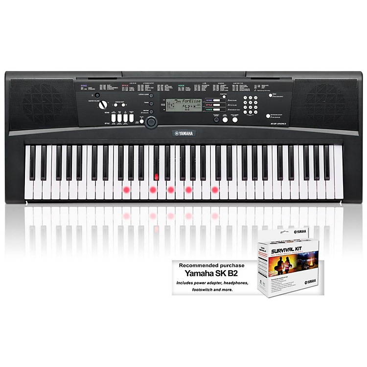 Yamaha EZ-220 61-Key Lighted Key Portable Keyboard