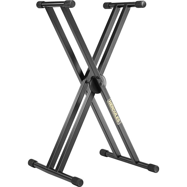 Hercules StandsEZ Lok Double Keyboard Stand