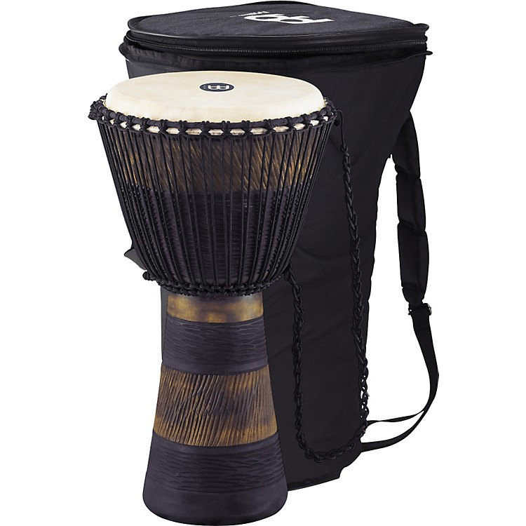 MeinlEarth Rhythm Series Original African-Style Rope-Tuned Wood Djembe with Bag
