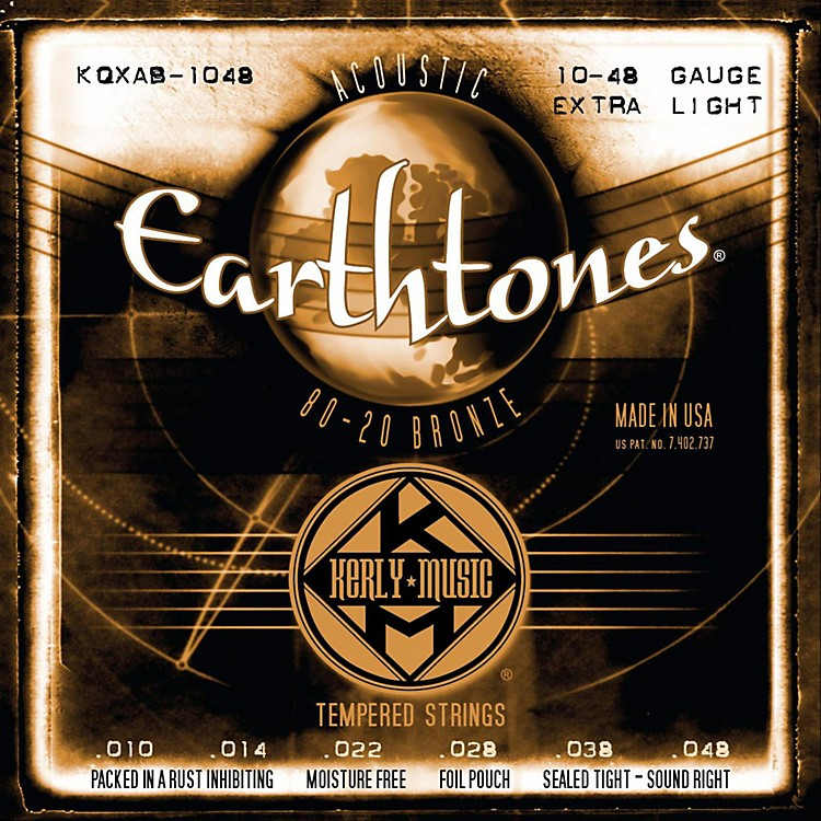 Kerly MusicEarthtones 80/20 Bronze Acoustic Guitar Strings - Extra Light Gauge