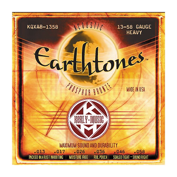 Kerly Music Earthtones Phosphor Bronze Acoustic Guitar Strings - Heavy