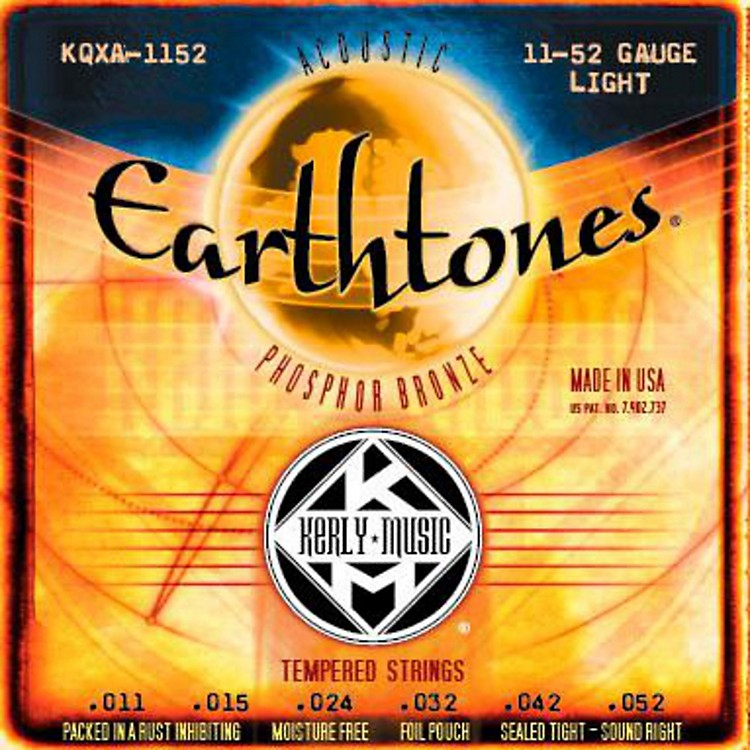 Kerly Music Earthtones Phosphor Bronze Acoustic Guitar Strings - Light