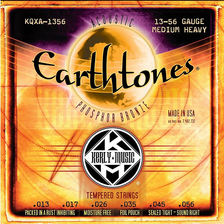 Kerly MusicEarthtones Phosphor Bronze Acoustic Guitar Strings - Medium Heavy