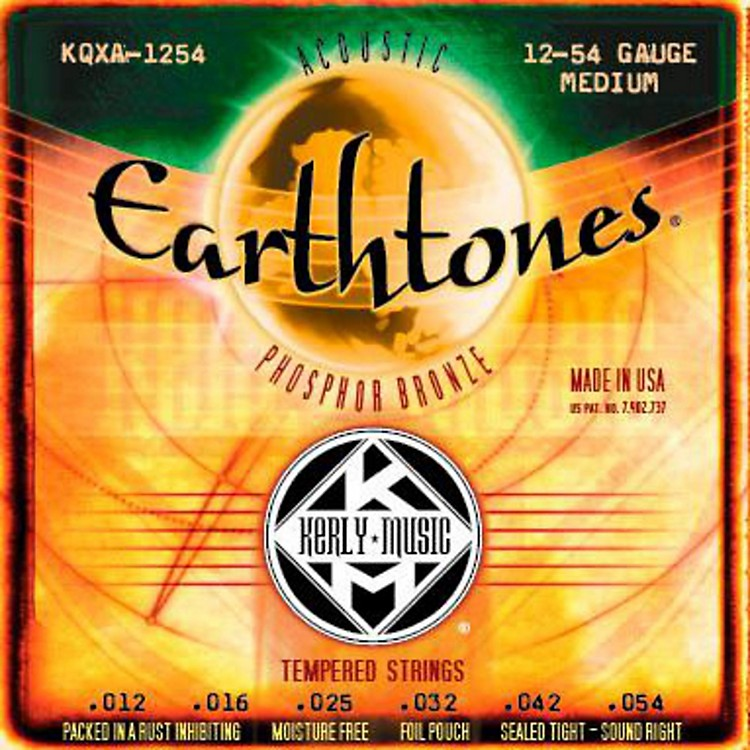 Kerly Music Earthtones Phosphor Bronze Acoustic Guitar Strings Medium